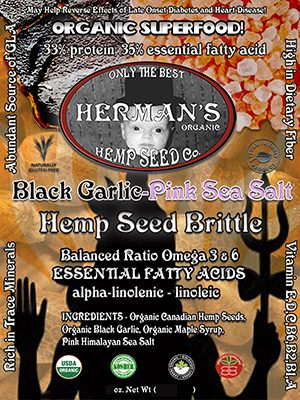Black Garlic Pink Sea Salt Toasted Hempseed's